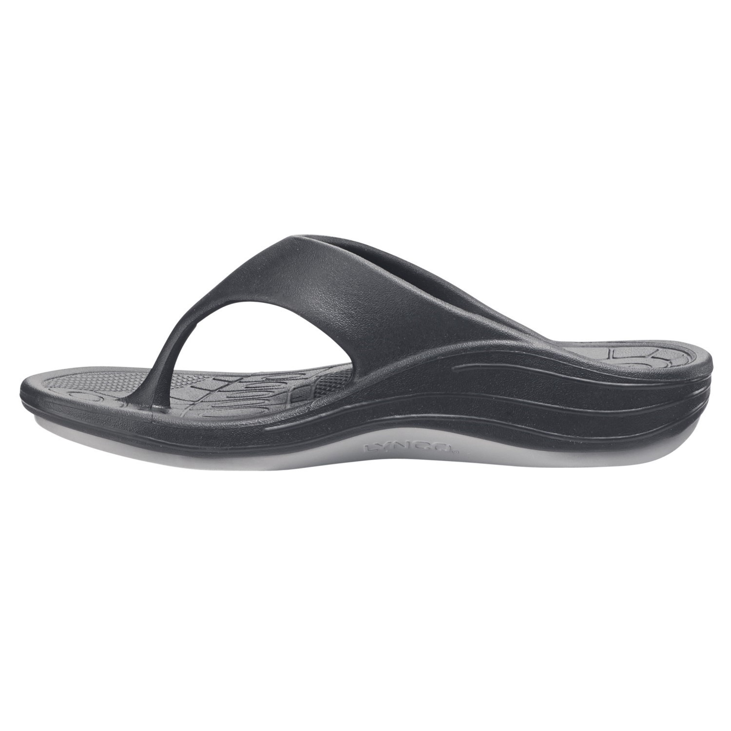 71084e658f83 Aetrex Lynco Flips - Womens Thongs - Black